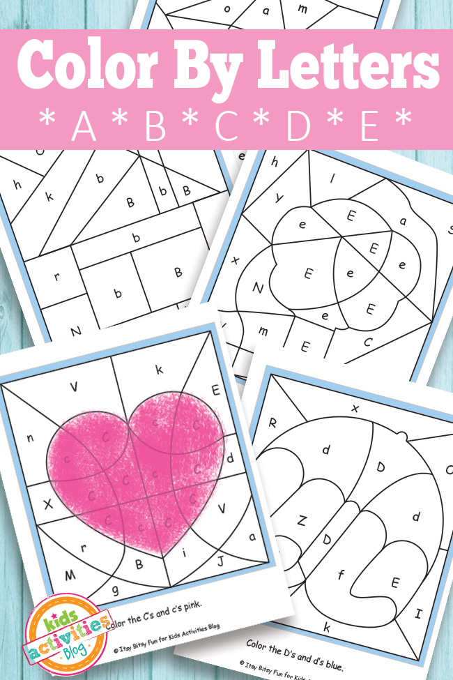 Color By Letters A B C D E Free Kids Printable – Letter C Worksheets for Kindergarten