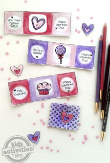 Color Your Own Printable Valentines