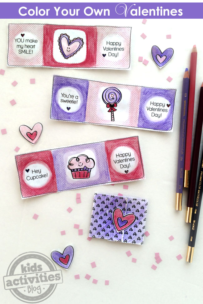 Color Your Own Valentines Printable