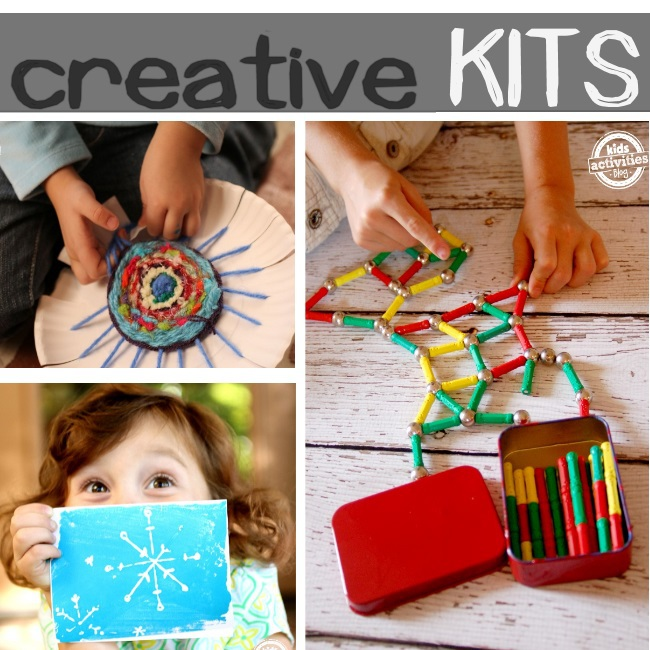 create a gift kit for your kids to craft and build with