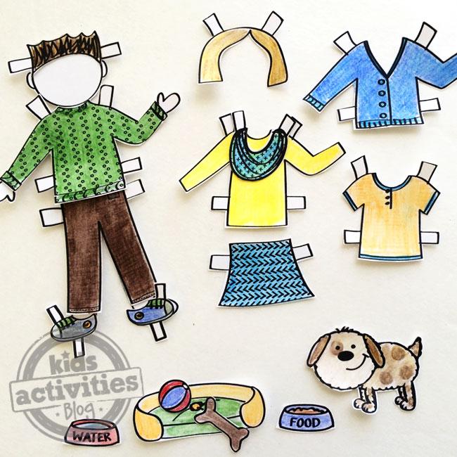 Paper Doll Pet Printable