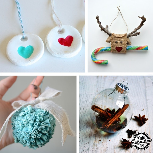 26 homemade ornaments for Simple christmas decorations to make