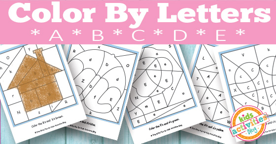math worksheet : color by letters a b c d e free kids printable : Color By Letter Worksheets For Kindergarten