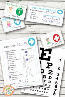 Doctor Pretend Play Free Kids Printables