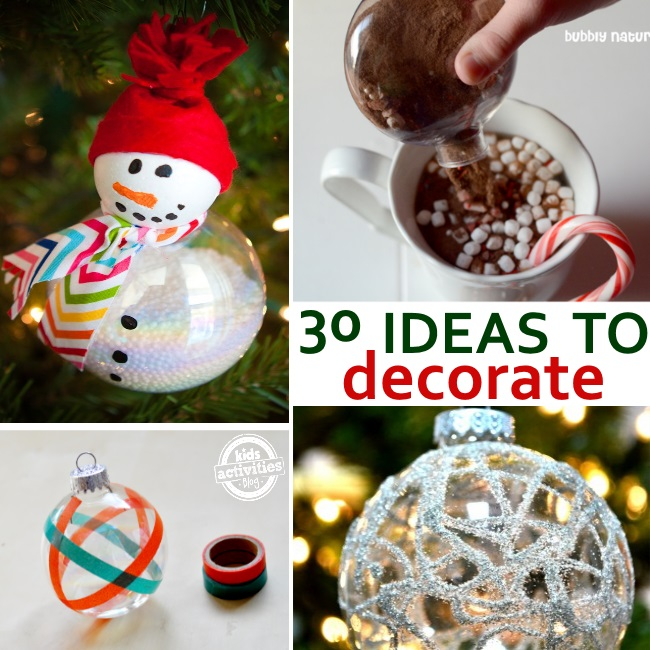 fill an ornament with these ideas