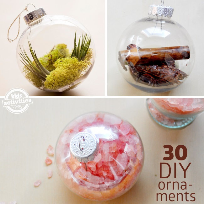 fun ways to fill Christmas ornaments