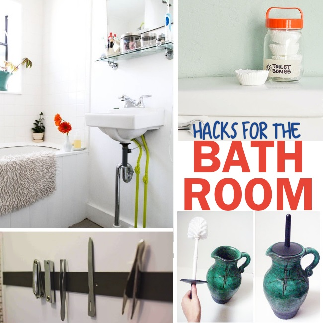 hacks and tricks to make bathroom organization and cleaning easier