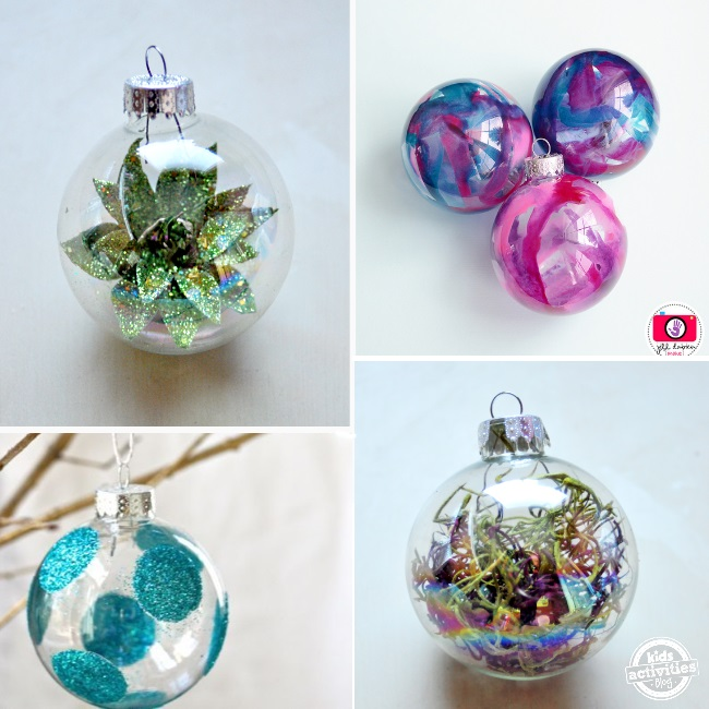 lots of different ways to fill ornaments