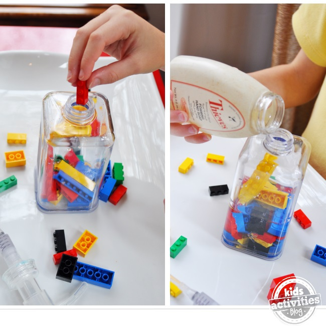 make a fun bottle of soap for your kids to use to wash their hands