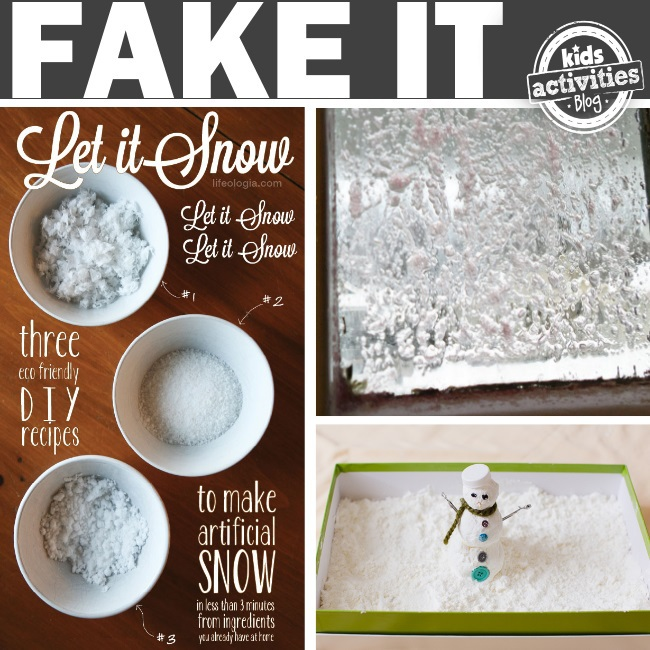 diy fake snow ideas