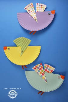 Paper Plate Birds with Movable Wings
