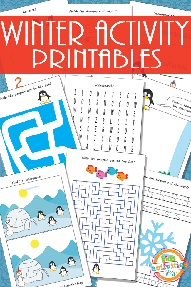 winter activity printables