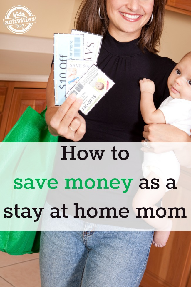 save money as a stay at home mom 1