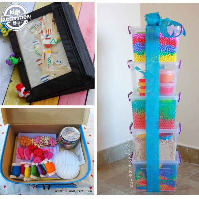 sensory activity kits for you to create as gifts for kids