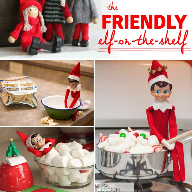terrific ideas for a friendly elf-on-the-shelf this christmas
