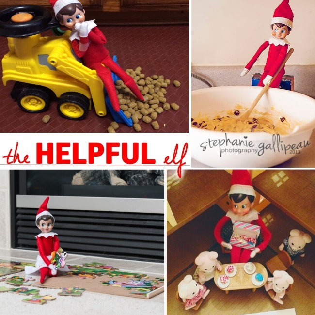 the helpful elf in the shelf activity ideas