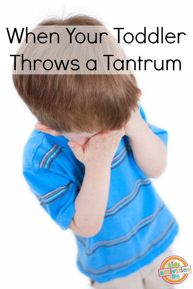 toddler throws a tantrum