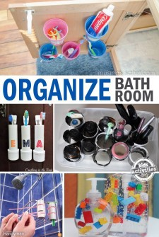 tricks and tips to organize your bathroom on a budget