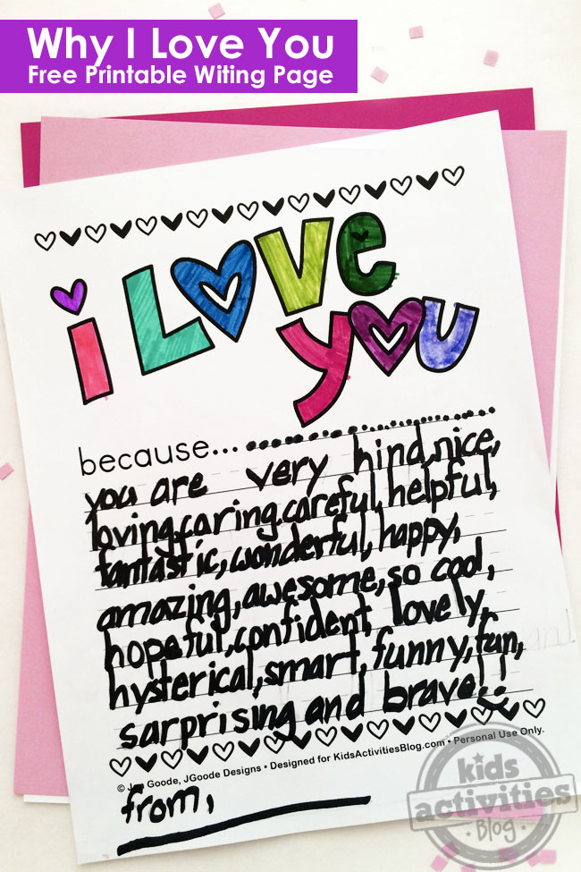 It is an image of Adaptable I Love You Printable