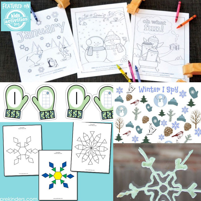 Winter printables - crafts and coloring pages