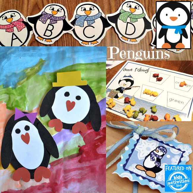 Printable penguin activities for winter