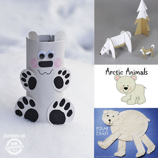 Polar bear winter printables