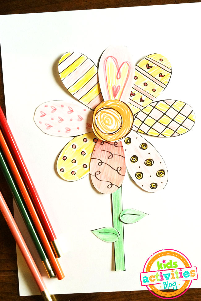 Printable Spring Cut and Paste Craft designed by Jen Goode