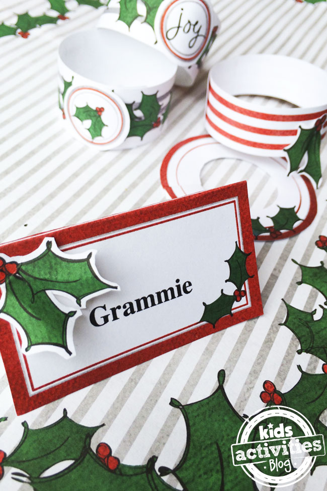 Make your own Christmas Place Setting