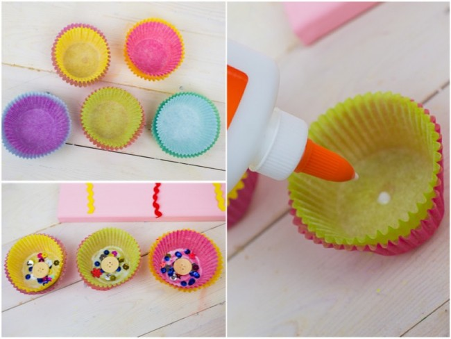 Cupcake Liner Flower Craft Directions