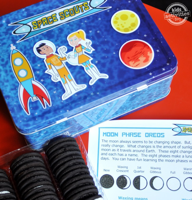 learn about the cycle of the moon with oreos