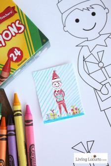 Elf On The Shelf Sized Coloring Sheets {And Kid Sized Coloring Sheets, Too!}