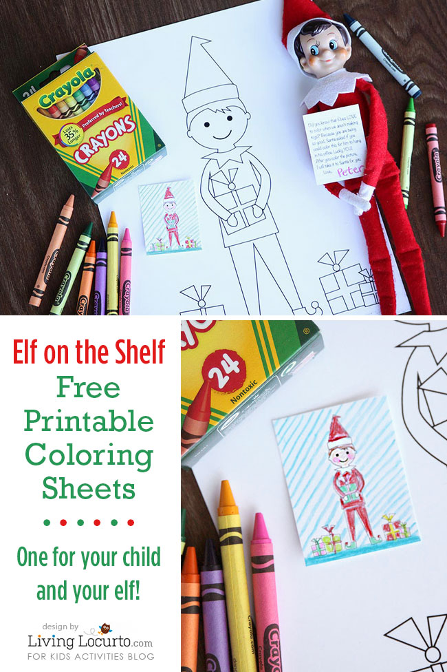 photograph about Elf on the Shelf Printable identified as Elf Upon The Shelf Sized Coloring Sheets And Baby Sized
