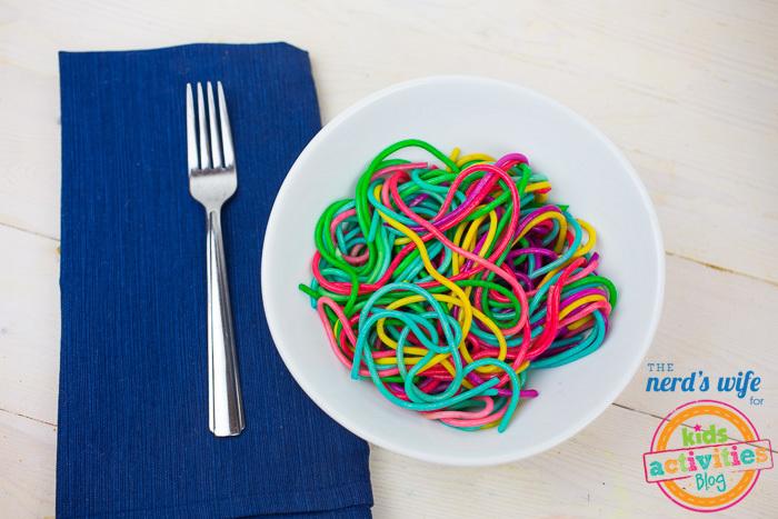 Rainbow Pasta in Bowl