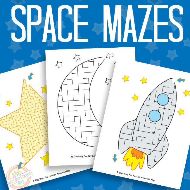 Space Mazes Free Printable