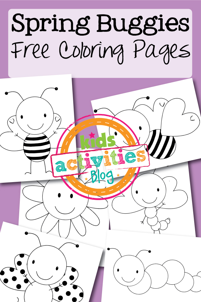 Free Printable Coloring Pages: Spring Buggies