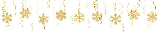 flocons de neige suspendus au plafond