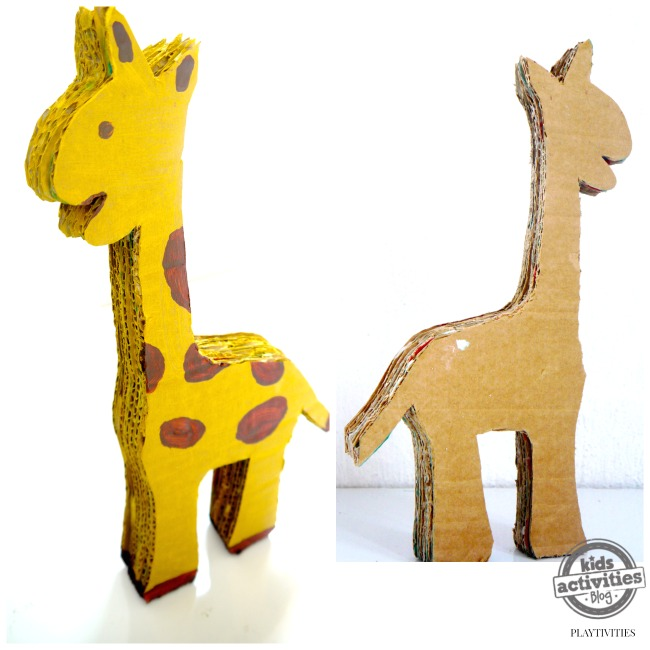 cardboard giraffe make