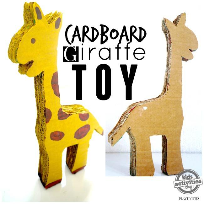 cardboard giraffe toy