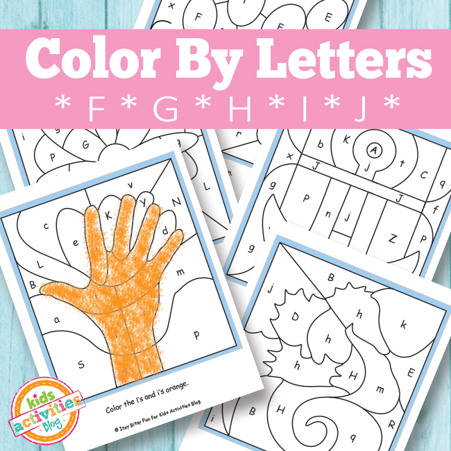 Color By Letters F, G, H, I, J {Free Kids Printable}