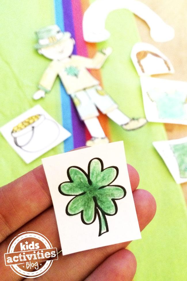 Printable four leaf clover