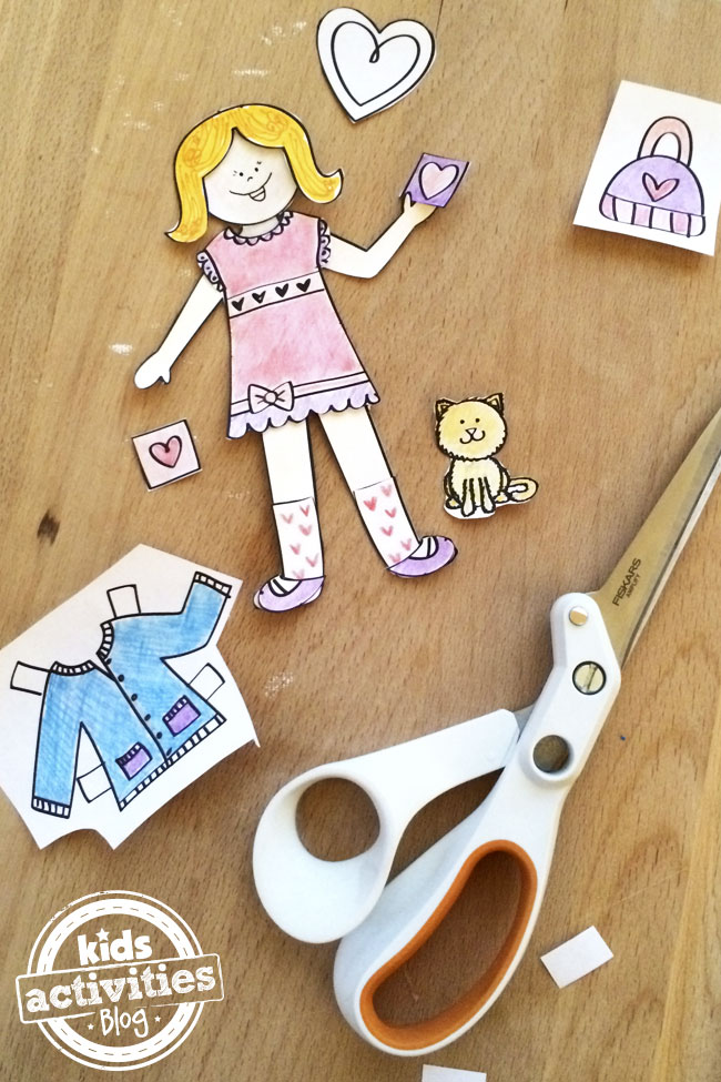 Design your own love paper doll printable created by Jen Goode