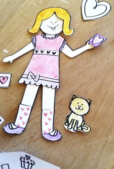 Design Your Own Love Paper Doll Printable Craft
