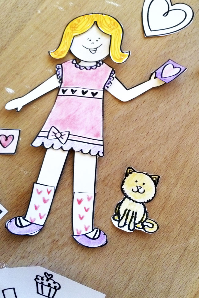 love paper doll printable