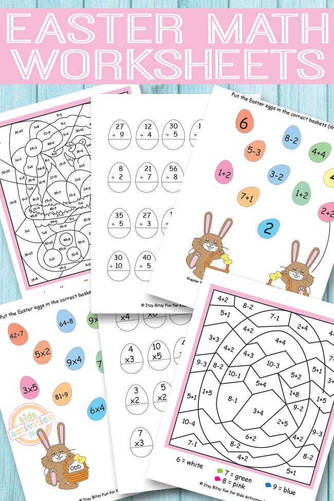 easter math worksheets free kids printables. Black Bedroom Furniture Sets. Home Design Ideas