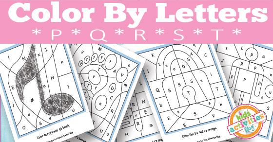 Color By Letters P Q R S T Free Kids Printable