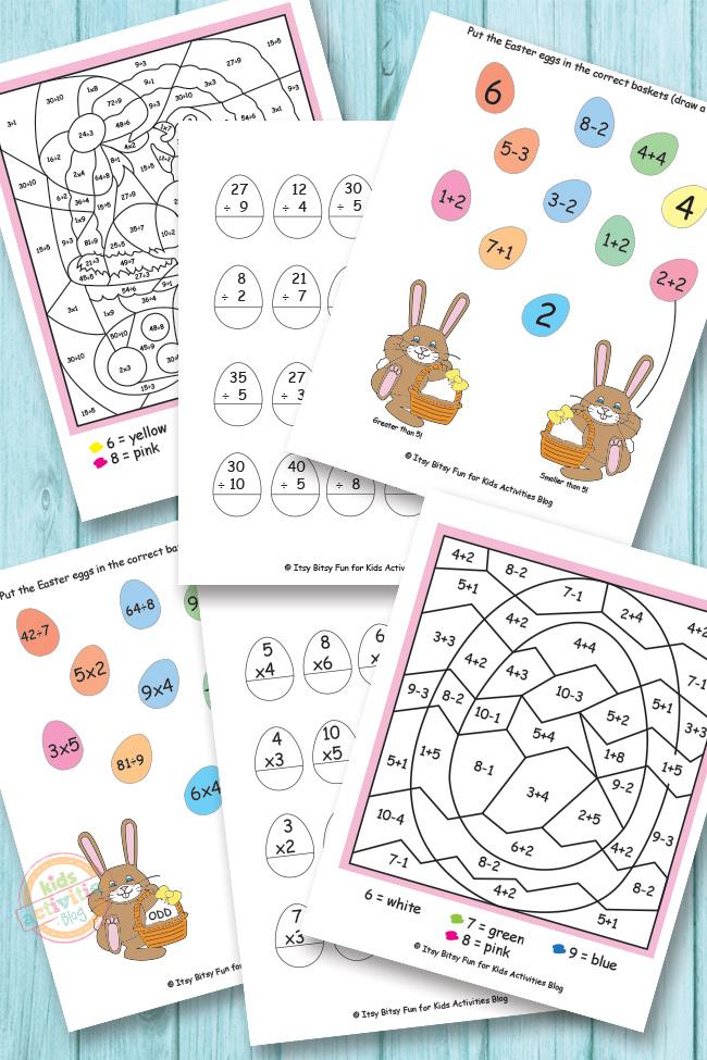 Easter worksheets ks2 maths