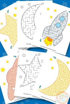 Space Mazes {Free Kids Printable}