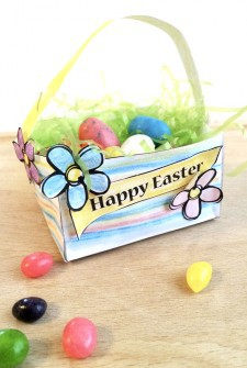 Mini Easter Basket Printable Craft