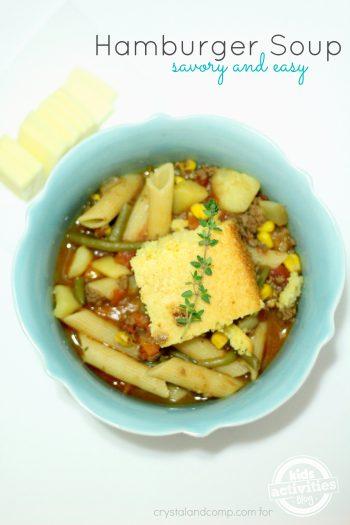 homemade hamburger soup
