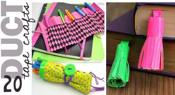 Easy Duct Tape Halloween Crafts